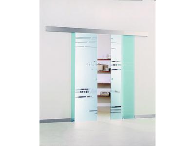 sürme sürgülü kayar cam kapı sistemi yavaş kapanan paslanmaz soft montaj 8450