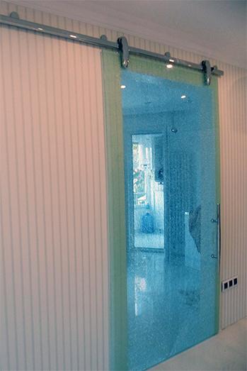 sürme sürgülü kayar cam kapı sistemi pirinç lama montaj 8600